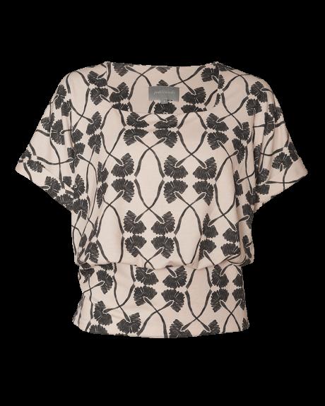 Bledblouse pinkfilosofy newseed blusa estampada ecru black